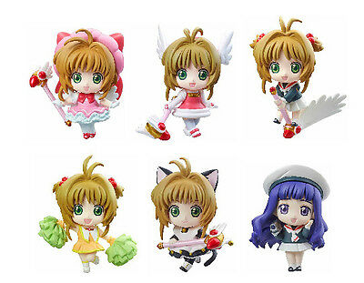 6x Japan Anime Card Captor Sakura Kinomoto Sakura PVC Figure Toy Cute New NO Box