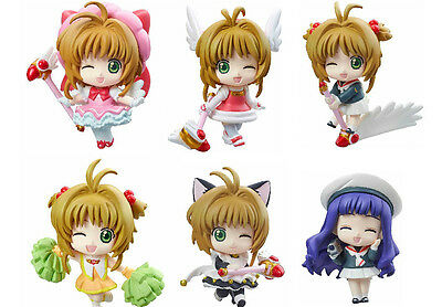 6x Cute Japan Anime Card Captor Sakura Kinomoto Sakura PVC Figure Toy New NO Box