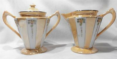 Vintage Art Deco Fraunfelter China Royal Rochester Sugar & Creamer