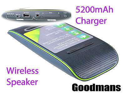 Goodmans Magic Wireless Speaker and 5200mAh Power Bank Fast  Charging Station