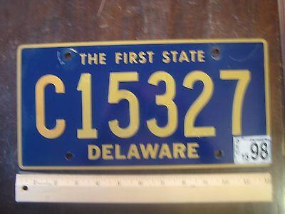 License Plate, Delaware, The First State, C 15327, Riveted Replacement Plate