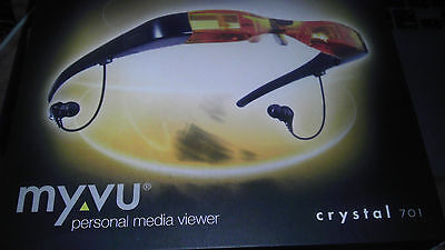 USED CCTV Tester Monitor Tester LCD Video Glasses Camera Aimer MYVU Crystal 701