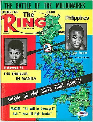 Joe Frazier Signed Autographed The Ring Magazine October 1975 PSA/DNA #AB90157