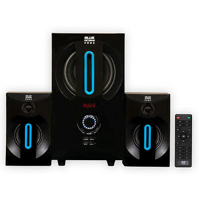 Blue Octave B22 Home 2.1 Powered Speaker System with FM Tuner and USB/SD Inputs