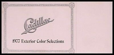 1977 Cadillac Color Selector Paint Chip Brochure