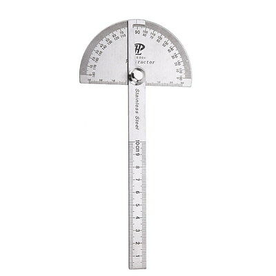 Stainless Steel Protractor 0-180 degrees with Round Head Measuring Ruler Tools