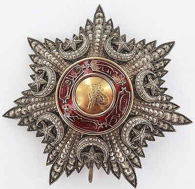 .RARE 1800s / EARLY 1900s LARGE TURKISH ORDER OF MEDJIDIE BREAST STAR 1ST CLASS?