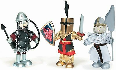 Le Toy Van BUDKINS KNIGHTS SET Toddler/Child Wooden Army Figure/Doll/Toy BN