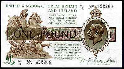 Warren Fisher, One Pound, M1/12 422268, (1923), Very Fine-Extremely Fine.