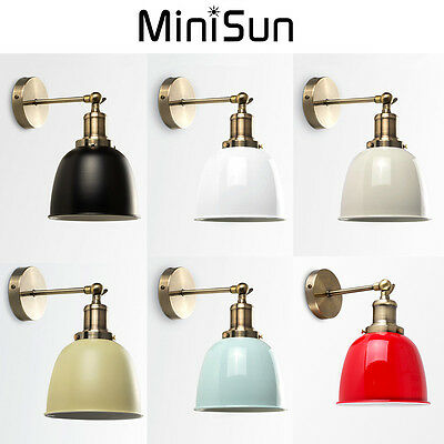 Vintage Antique Industrial Style Indoor LED Wall Light Adjustable Lampshade