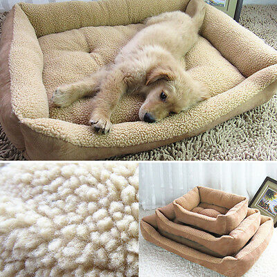 New Soft Warm Fleece Pet Dog Cat Cushion House Washable Kennel Mat Comfy Bed