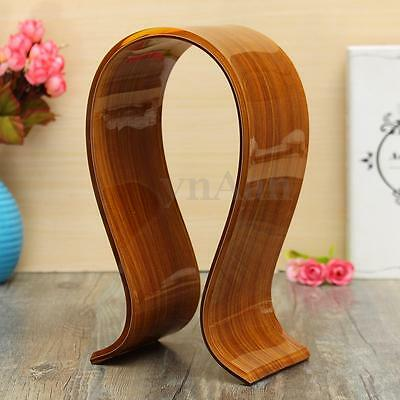Acrylic Gaming Headphone Stand Display Headset Holder Support Hanger Rack Brown