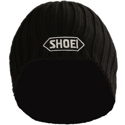Shoei Black Beanie Hat Official With Embroidered White Logo