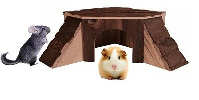 Trixie Thordis Wooden Corner House Guinea Pig Chinchilla Natural Hutch Hide 6128