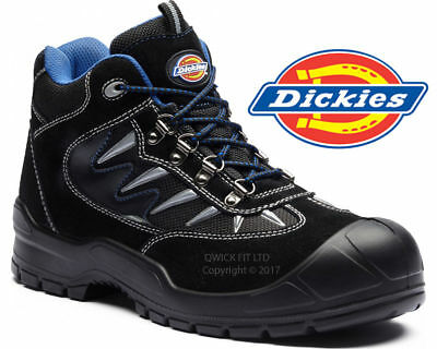 Mens Dickies Light Weight Leather Safety Work Boots Steel Toe Cap Shoes Trainers