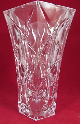 """Cristal D'arques Flower Vase In Sully 8 1/4"""" Tall"""