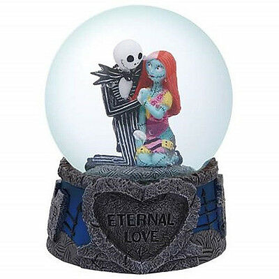 The Nightmare Before Christmas Jack and Sally Eternal Love 85mm Water Globe, NEW