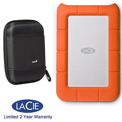 LaCie Rugged Mini 4TB External Hard Drive 9000633 +Ivation Compact Portable Case