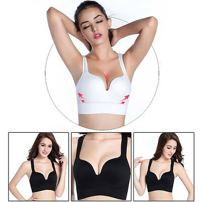 Women Sports Padded Bras Comfort Seamless Bra Workout Yoga Fitness Top Vest UK