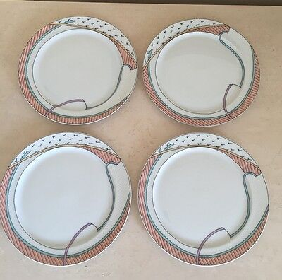 "Rosenthal Studio Linie New Wave Set Of 4 Salad Plates 7.75"" Dorothy Hafner"