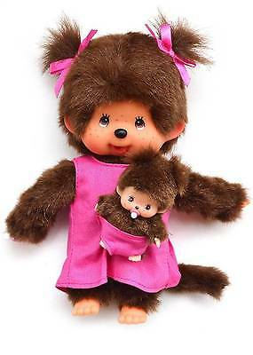 MONCHHICHI MOTHER/BABY mcc/bbcc Original Sekiguchi  Monchichi monkey Doll toy