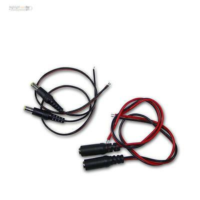 2 Pair DC connector with 30cm Cable, Book/Clutch + Plug 5,5x2,1mm