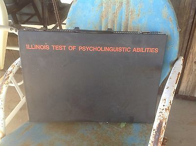 ITPA Illinois Test of Psycholinguistic Abilities Testing Kit Briefcase Materials
