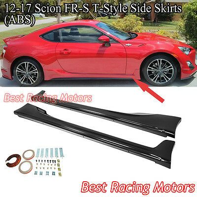 T Style Side Skirts (ABS) Fits 12-18 Scion FR-S / Toyota 86