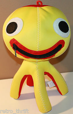"""12"""" Brio Octopus Plush w/ Mouth Zipper turns into Carrying Bag, Bendable Legs"""