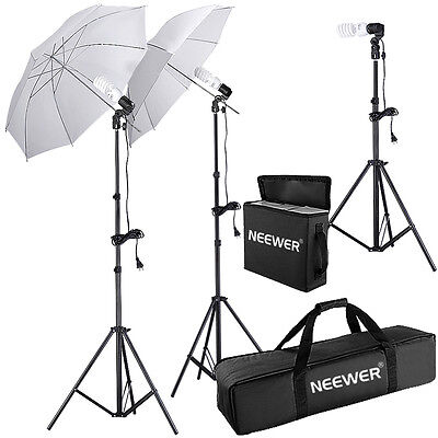 Neewer 600W Photo Studio Umbrella Continuous Lighting Kit f Portrait Photography