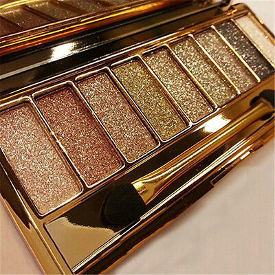9 Colors Shimmer Eyeshadow Eye Shadow Palette & Makeup Cosmetic Beauty Brush Set