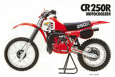 HONDA Poster CR250 R CR250R VMX 1980 1981 1982 Suitable to  Frame
