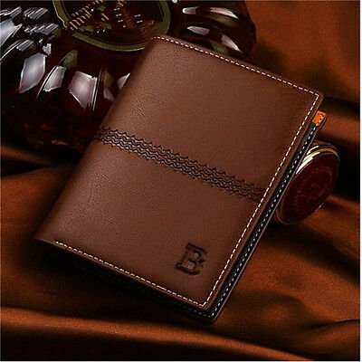 Men Leather Wallet Pocket ID Card Holder Billfold Slim Clutch Bifold Purse Gifts
