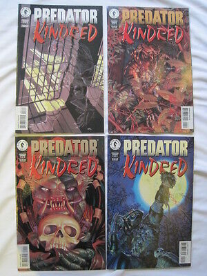 "Predator, ""kindred""  : Complete 4 Issue Mini Series. Dark Horse.1996"