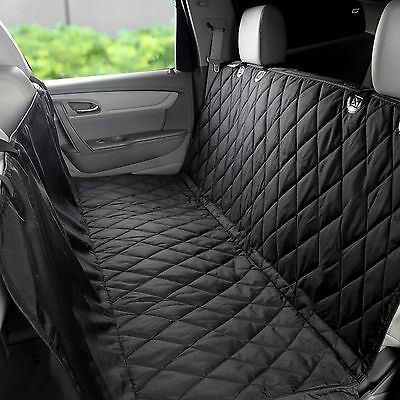 Pet Car Back Rear Bench Seat Cover Waterproof Hammock For Dog Cat Black