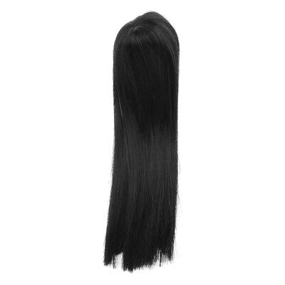 Fashion Cosplay Black Long Straight Hair Wig for 1/6 SD DZ DOD LUTS Dolls