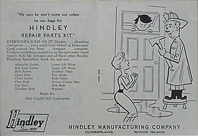 HINDLEY MANUFACTURING COMPANY (CUMBERLAND, RHODE ISLAND) 1950s BOOKLET