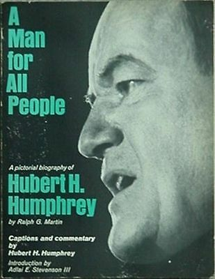 Hubert H. Humphrey (D-Mn) 1968 Pictorial Biography (Senator, Vice President