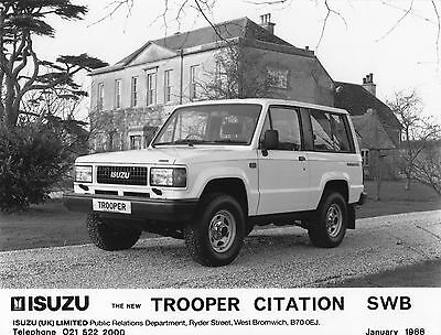 Isuzu Trooper Citation SWB Press Photograph - 1988