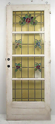 Vintage American Stained Glass Door Circa 1950s (8791)NJ