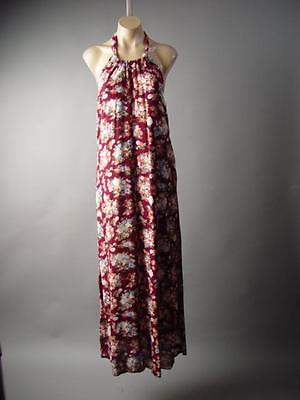 Chintz Floral Rose Halter Victorian French Country Long Maxi 191 mv Dress S M L