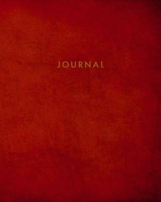 Journal: Blank Lined Notebook Red 8 X 10