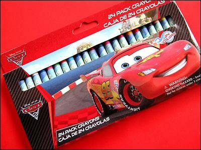 Boxed Set of 24 Disney CARS Crayons Art Craft Different Colors FREE POST