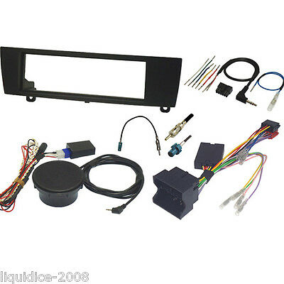 FK-118-PDC BMW 1 SERIES E87 2004 to 2010 BLACK SINGLE DIN FASCIA & STALK KIT