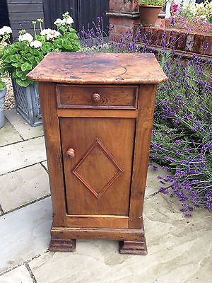 French elm bedside cabinet/chevet- late 1800s • £125.00