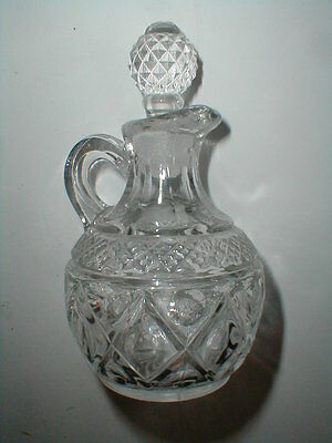 Imperial Glass Clear CAPE COD 4 oz Oil or Vinegar Cruet