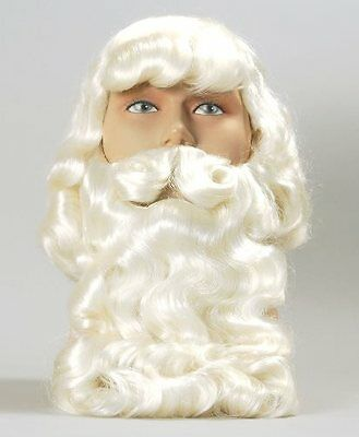 Father Christmas Santa Fancy Dress Wig And Beard - Superior Quality