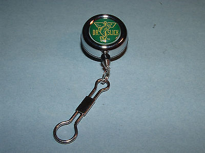 Dr Slick Reel Clip-On 8 Ring Silver Fly Fishing Retractor Reels Zinger RIS8S