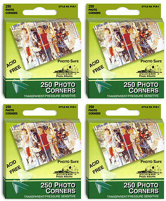 Pioneer *1,000 Premium Clear Photo Corners* (  4 packs 250/pack)   214261