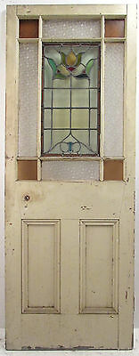 Vintage English Stained Glass Door (8904)NJ
